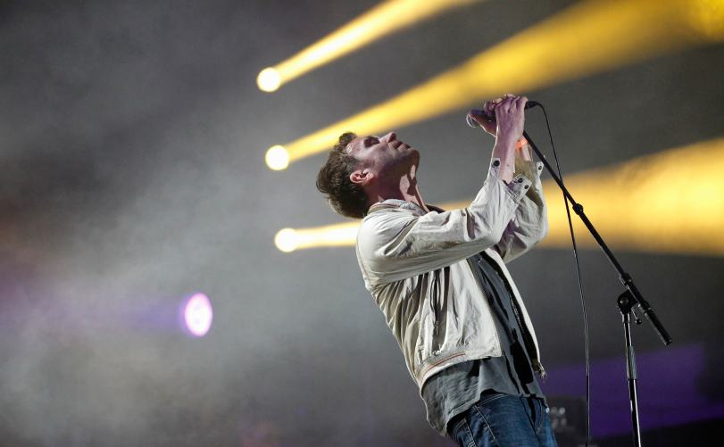 Albarn of British band Blur performs during the Coachella Music Festival in Indio